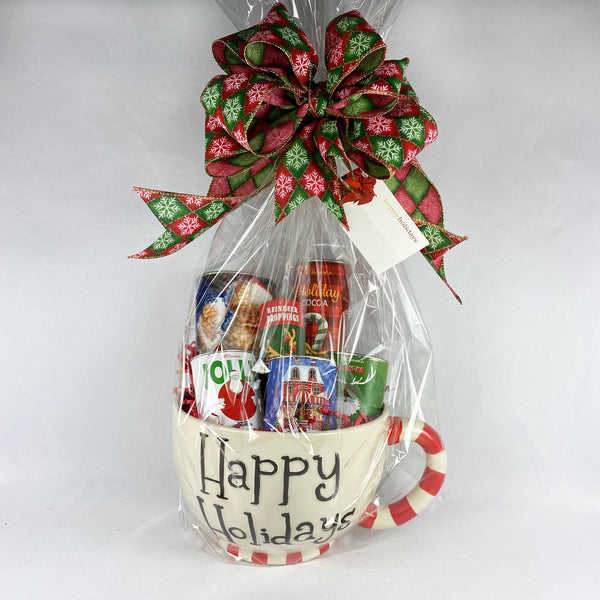 Happy Holidays Christmas Gift Basket