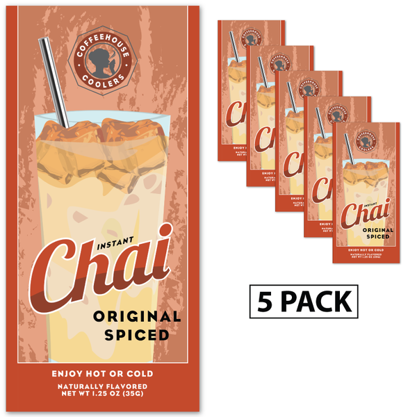 Coffeehouse Coolers - Original Spiced Chai (Five 1.25 oz Packets)