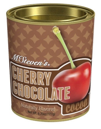 Oval Tin Drink Cocoa - McStevens® Ultra Cherry Chocolate - 6.25