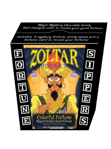 Zoltar© Colorful Fortune Mystery Hot Chocolate (3.75oz Fortune Box)