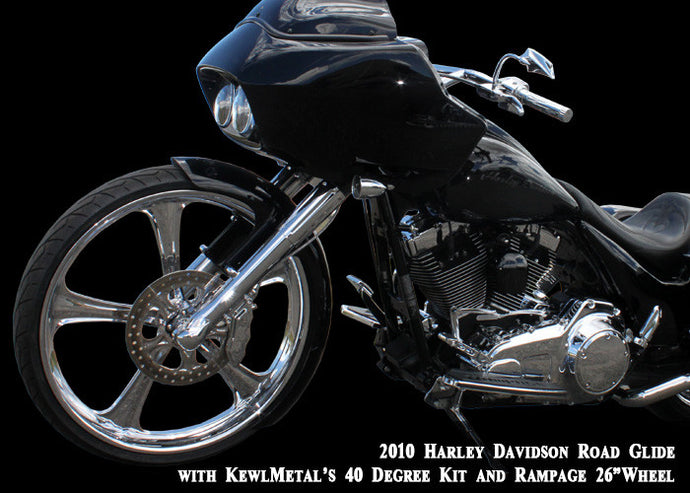 KewlMetal 40 Degree Rake Kit, Harley Davidson 2013 and Older