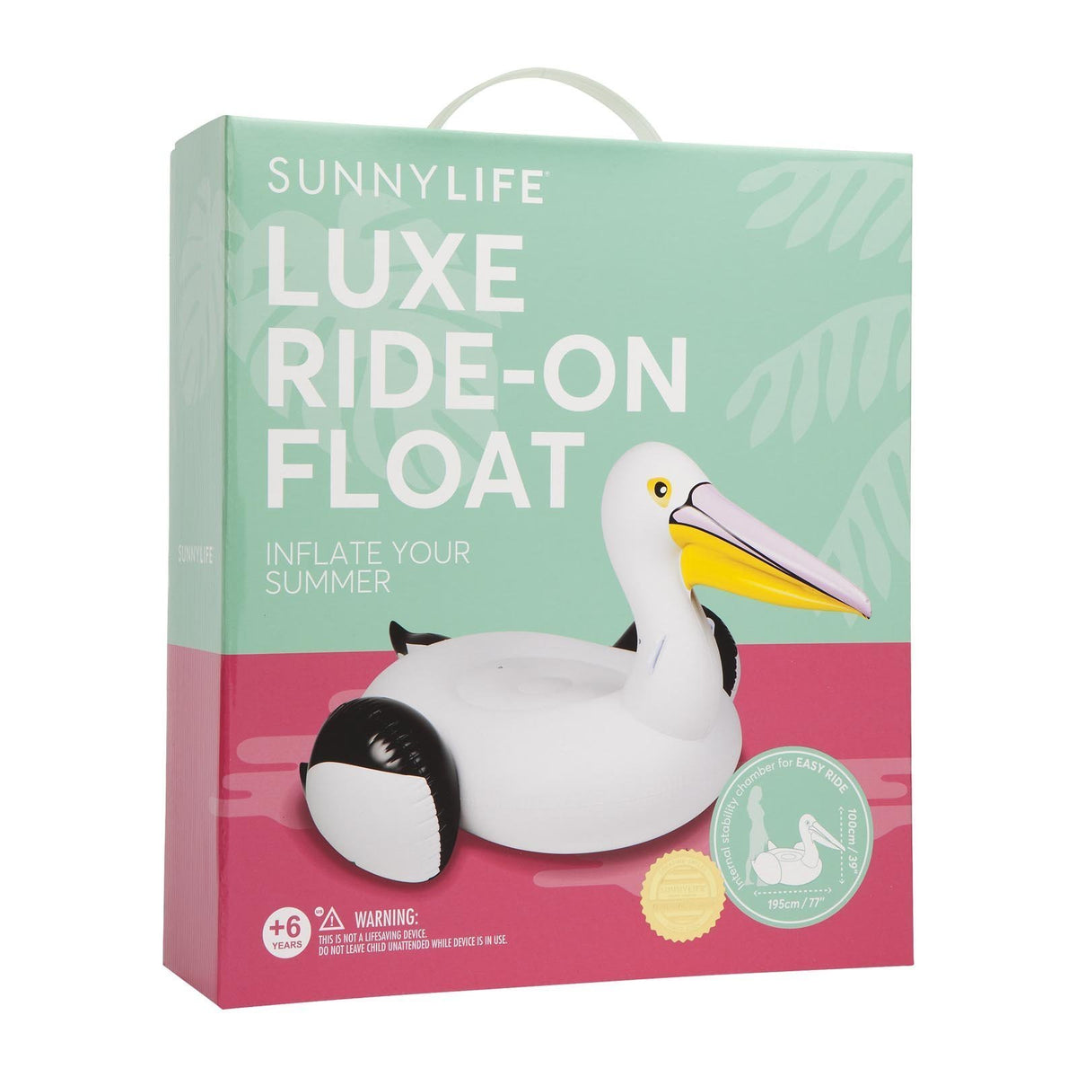 Sunnylife | Luxe Ride-On Float | Pelican