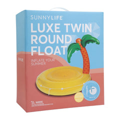 Sunnylife | Luxe Twin Round Float | Tropical Island