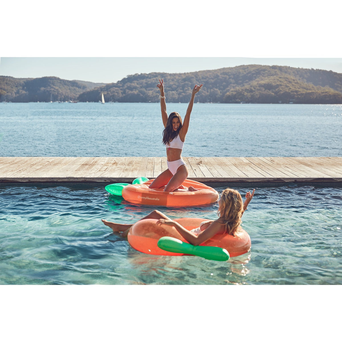 Sunnylife Luxe Lie-On Float | Peach
