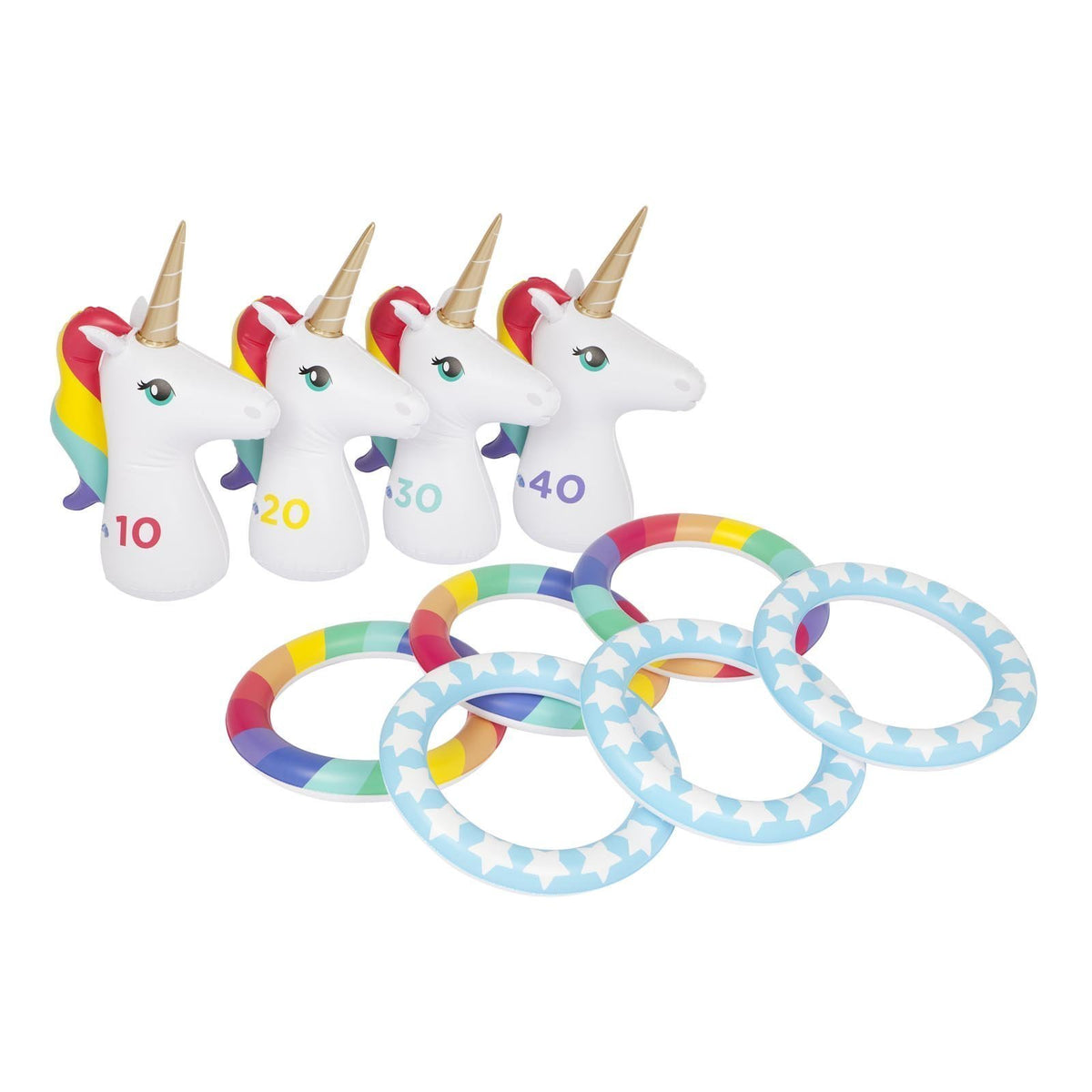 Sunnylife | Inflatable Ring Toss Set | Unicorn