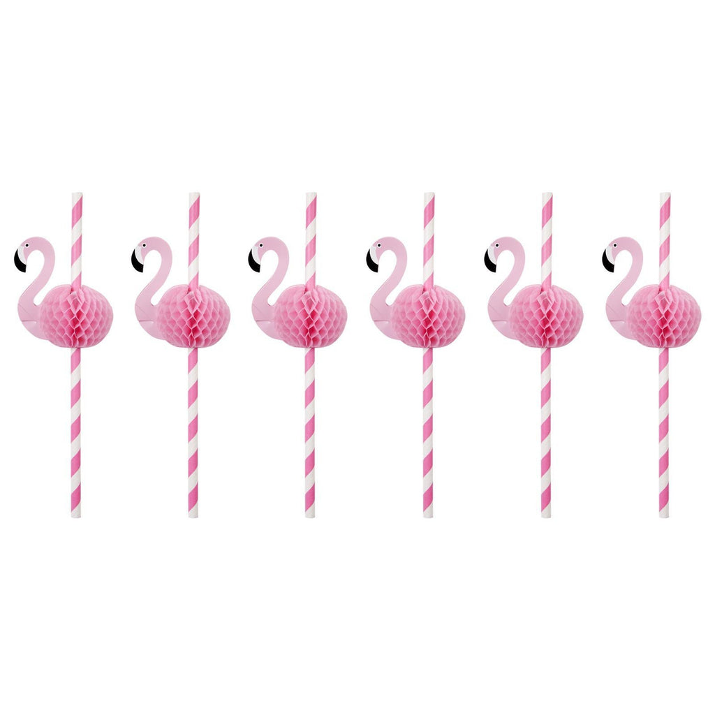 Flamingo Honeycomb Straws