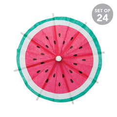 Sunnylife | Cocktail Umbrellas | Watermelon