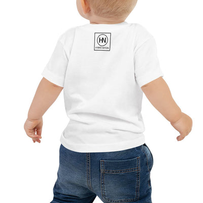 BABY IN DIVERSITY WE TRUST SIGNATURE T-SHIRT (WHITE) Toddler Top Printful