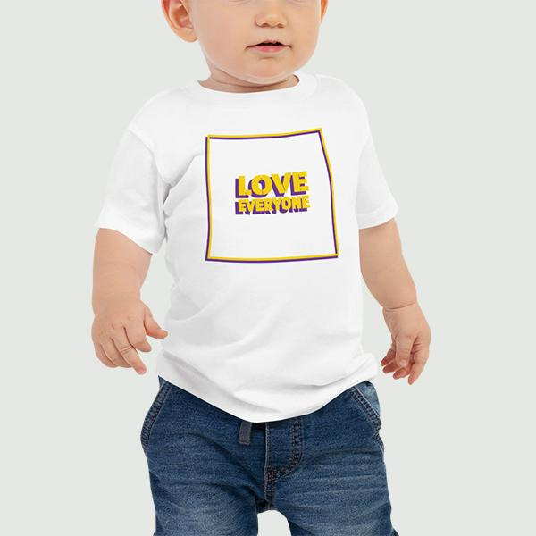 BABY LOVE EVERYONE T-SHIRT (HOMETOWN ED.) Toddler Top Printful