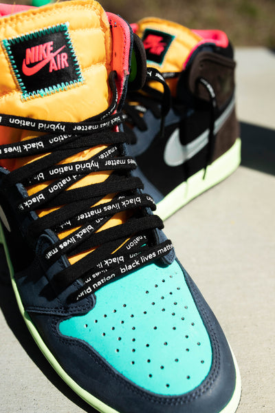 HYBRID NATION X BLM SHOELACES