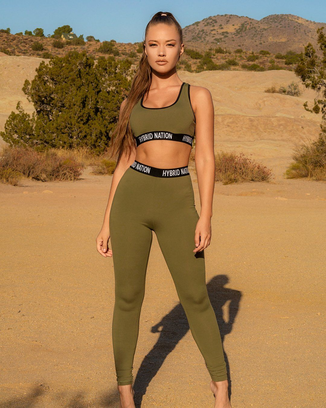 EVERYDAY COMFORT OLIVE LEGGINGS SET
