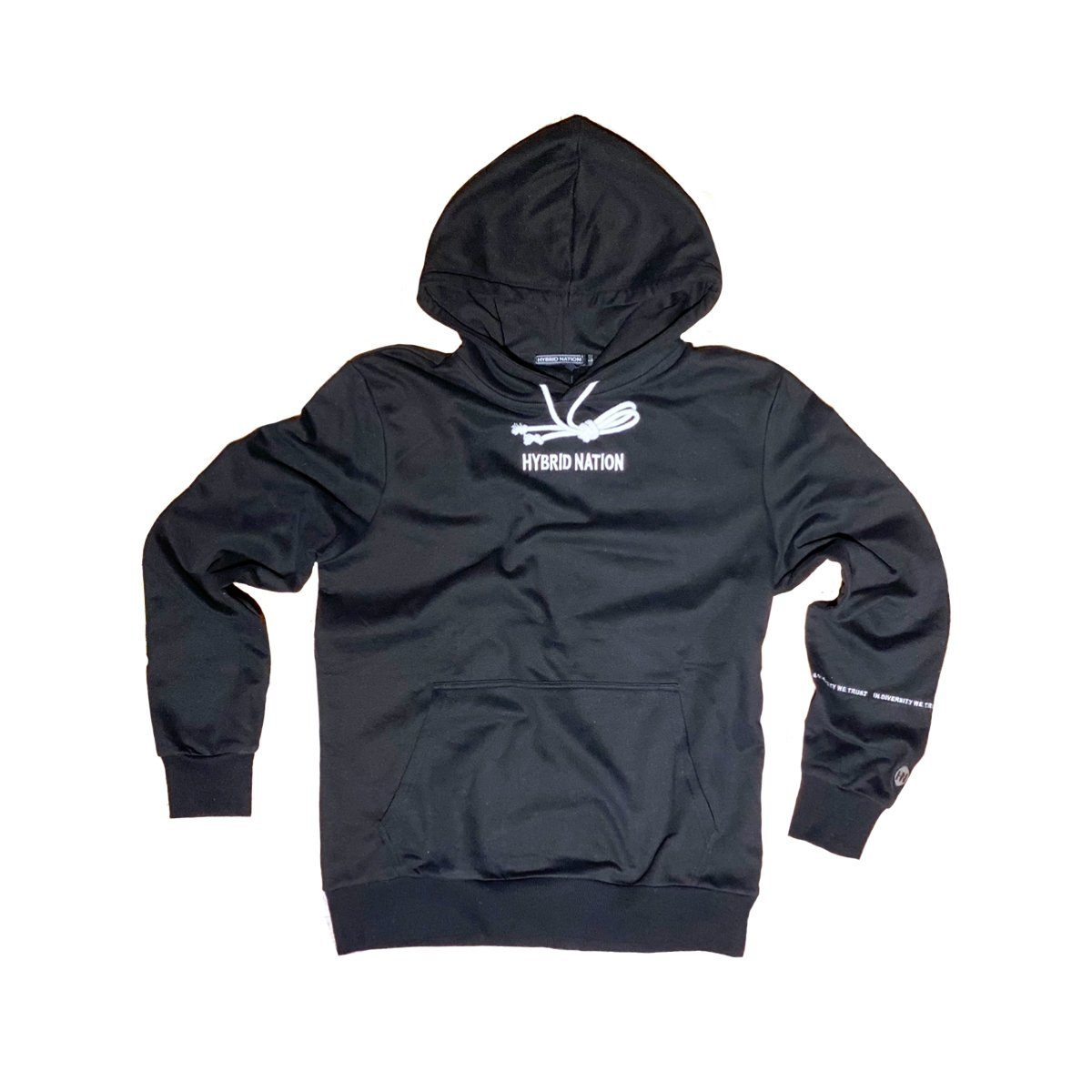 HYBRID NATION BASICS HOODIE (BLACK) Men's Basics Sweatshirt Hybrid Nation (China) XS