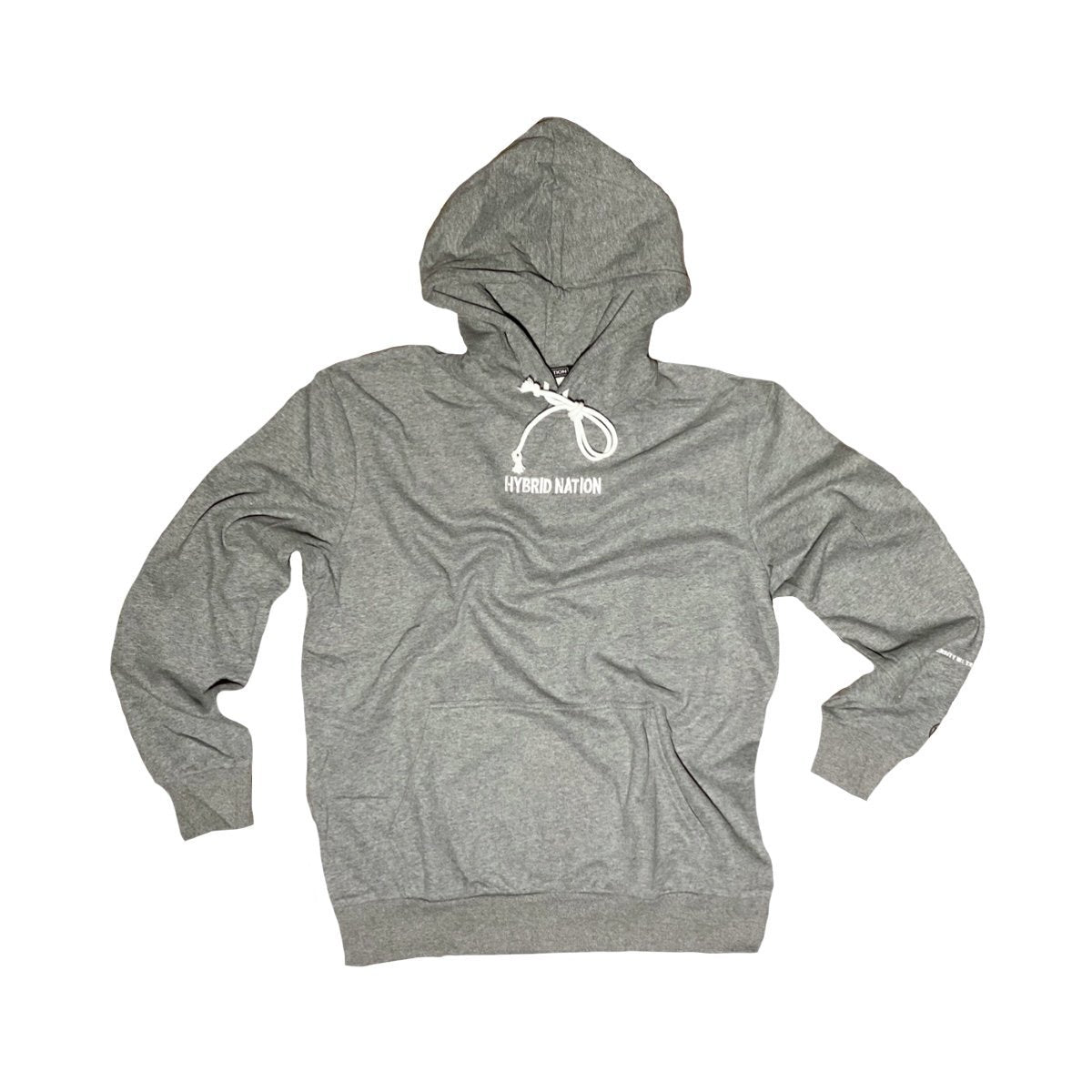 HYBRID NATION BASICS HOODIE (GREY) Men's Basics Sweatshirt Hybrid Nation (China) XS