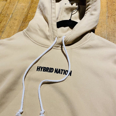 HYBRID NATION BASICS HOODIE (SAND) Men's Basics Sweatshirt Hybrid Nation (China)