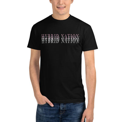 "HYBRID NATION ""BLURRED LINES"" GRAPHIC TEE Unisex T-Shirt Printful"