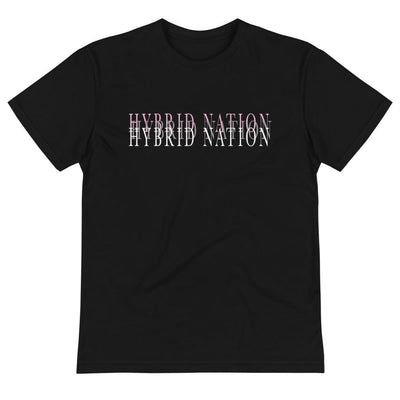 "HYBRID NATION ""BLURRED LINES"" GRAPHIC TEE Unisex T-Shirt Printful S"