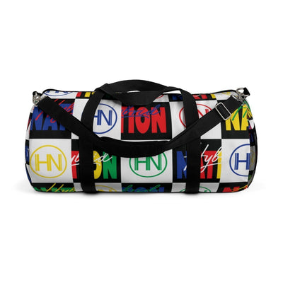 "HYBRID NATION ""FLAVORS"" DUFFLE BAG Duffle Bag Printify Large"