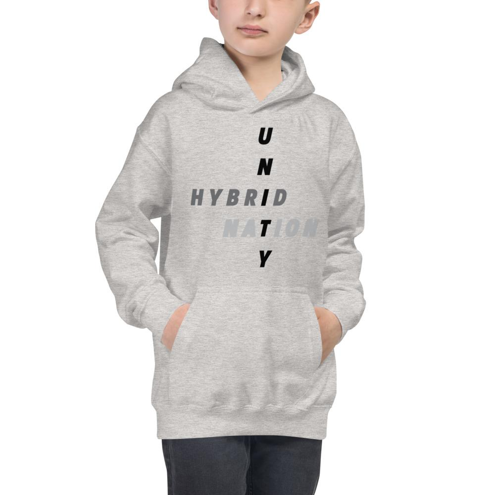 Hybrid Nation FW19 Kids 'Unity Hoodie' Kids Sweatshirt Printful Heather Grey XS
