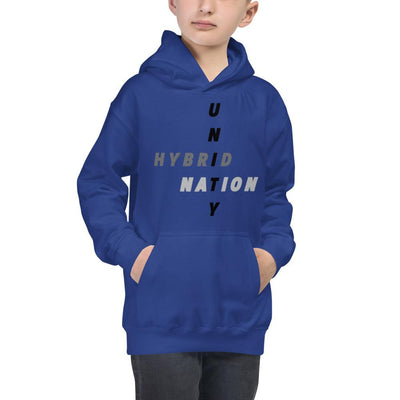 Hybrid Nation FW19 Kids 'Unity Hoodie' Kids Sweatshirt Printful Royal Blue XS
