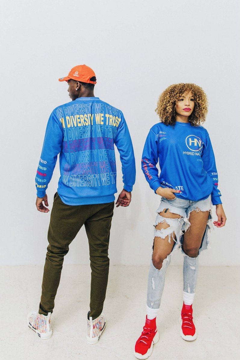 HYBRID NATION FW20 AOP CREWNECK All Over Prints Printify