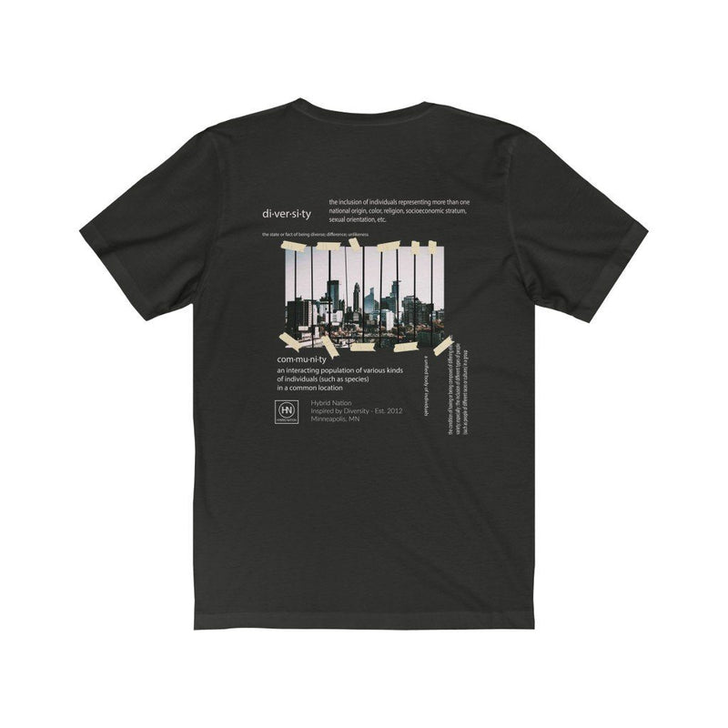 HYBRID NATION HOMETOWN TEE VOL. 2 T-Shirt Printify Vintage Black L