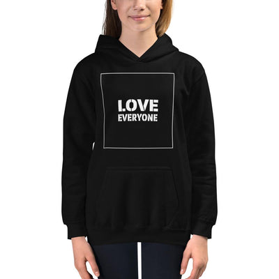 HYBRID NATION KIDS 'LOVE EVERYONE' HOODIE Kids Sweatshirt Printful