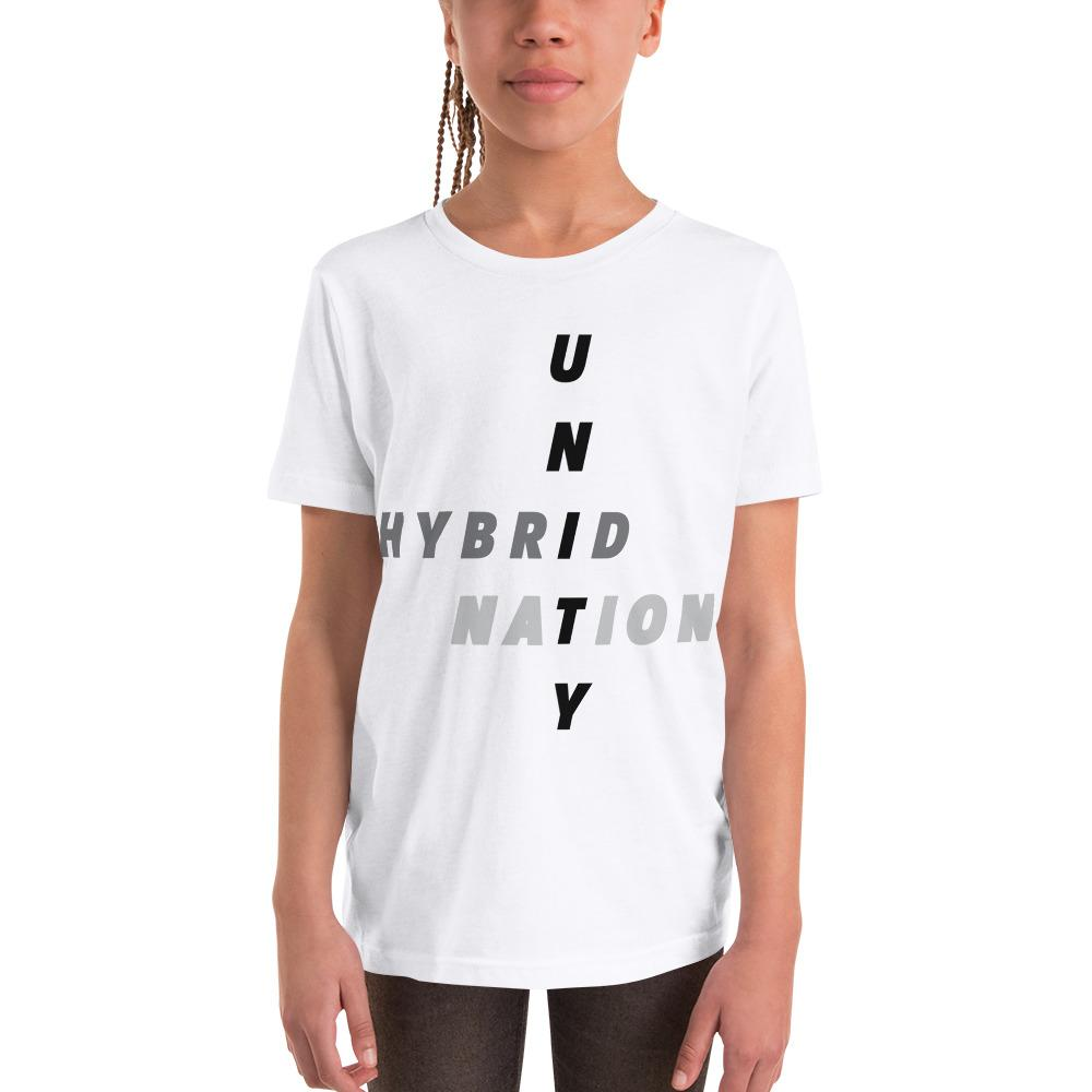 "HYBRID NATION KIDS S/S ""UNITY"" TEE Kids T-Shirt Printful White S"
