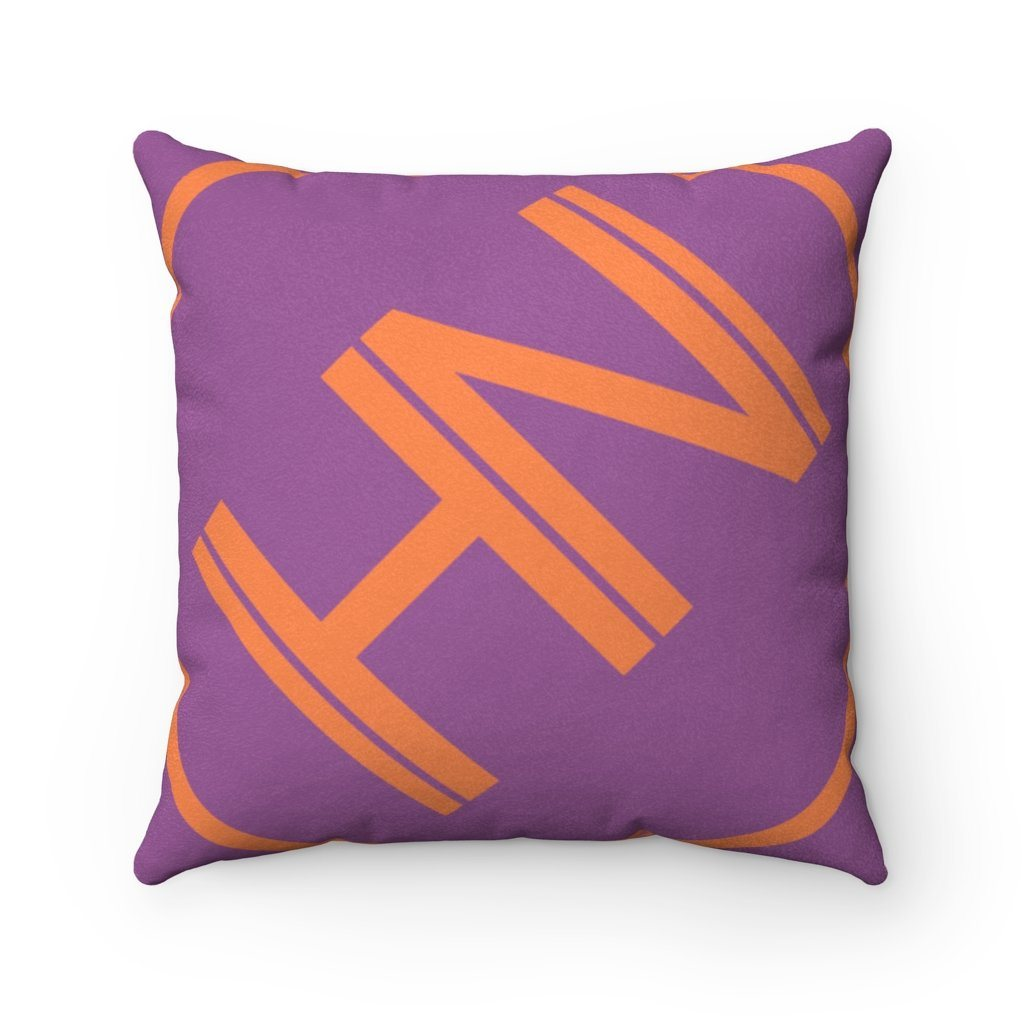"Hybrid Nation Oversized Logo Suede Pillow Home Decor Printify 14"" x 14"""