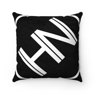 Hybrid Nation Oversized Logo Suede Pillow Home Decor Printify