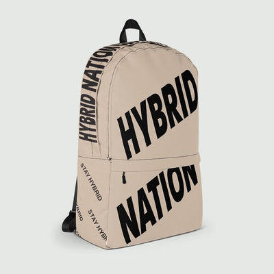 HYBRID NATION SIGNATURE BACKPACK (SAND) Bags Printful