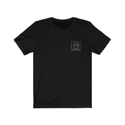 HYBRID NATION S/S LOGO TEE T-Shirt Printify Black L