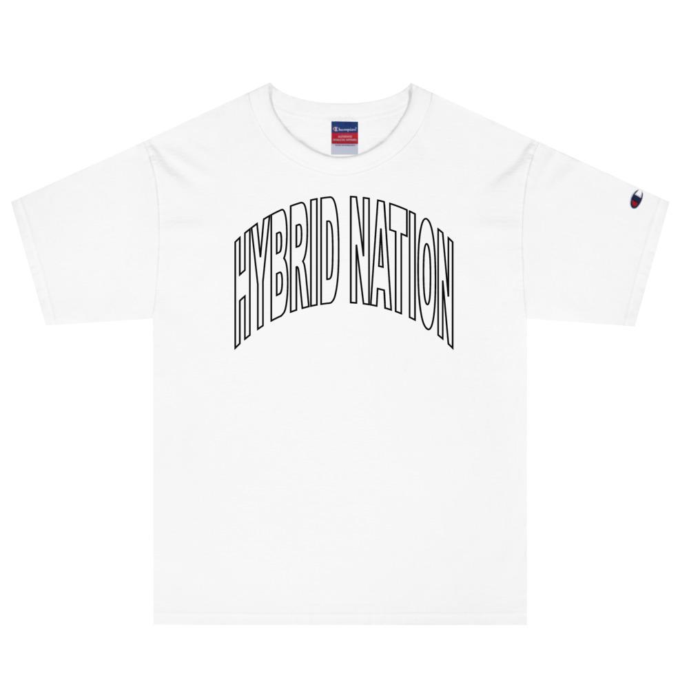 HYBRID NATION SS20 TEAM TEE MEN'S TEE Printful White S