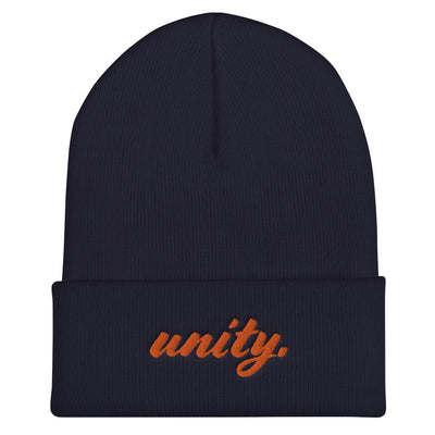 "HYBRID NATION ""UNITY"" BEANIE Beanie Printful Navy"