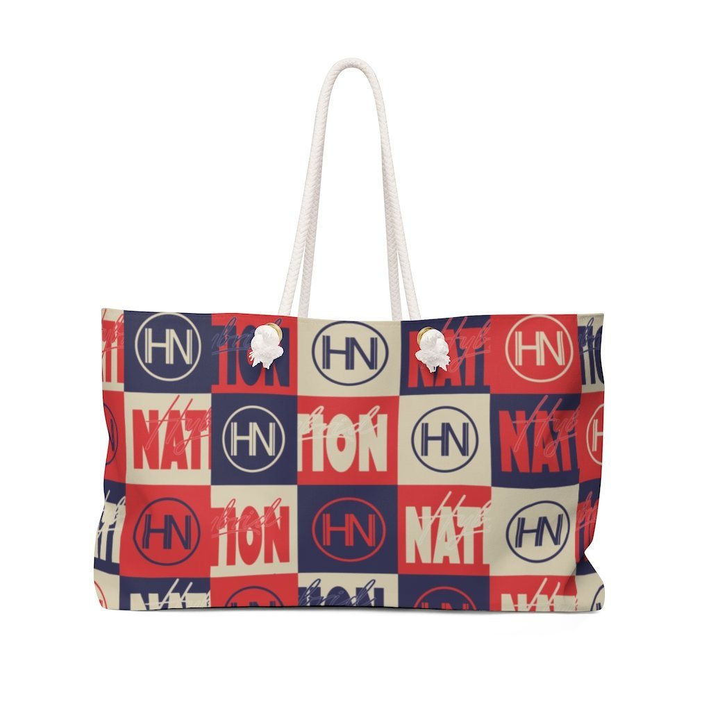 HYBRID NATION WEEKENDER BAG Bags Printify 24x13