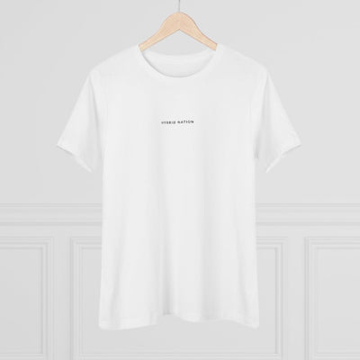 HYBRID NATION WOMEN 'BACK TO BASICS' TEE Women's T-Shirt Printify L White