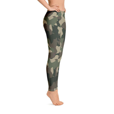 HYBRID NATION WOMEN SPORT FLEX LEGGINGS (CAMO) Women's Athletic Leggings Printful