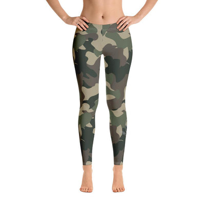 HYBRID NATION WOMEN SPORT FLEX LEGGINGS (CAMO) Women's Athletic Leggings Printful XS
