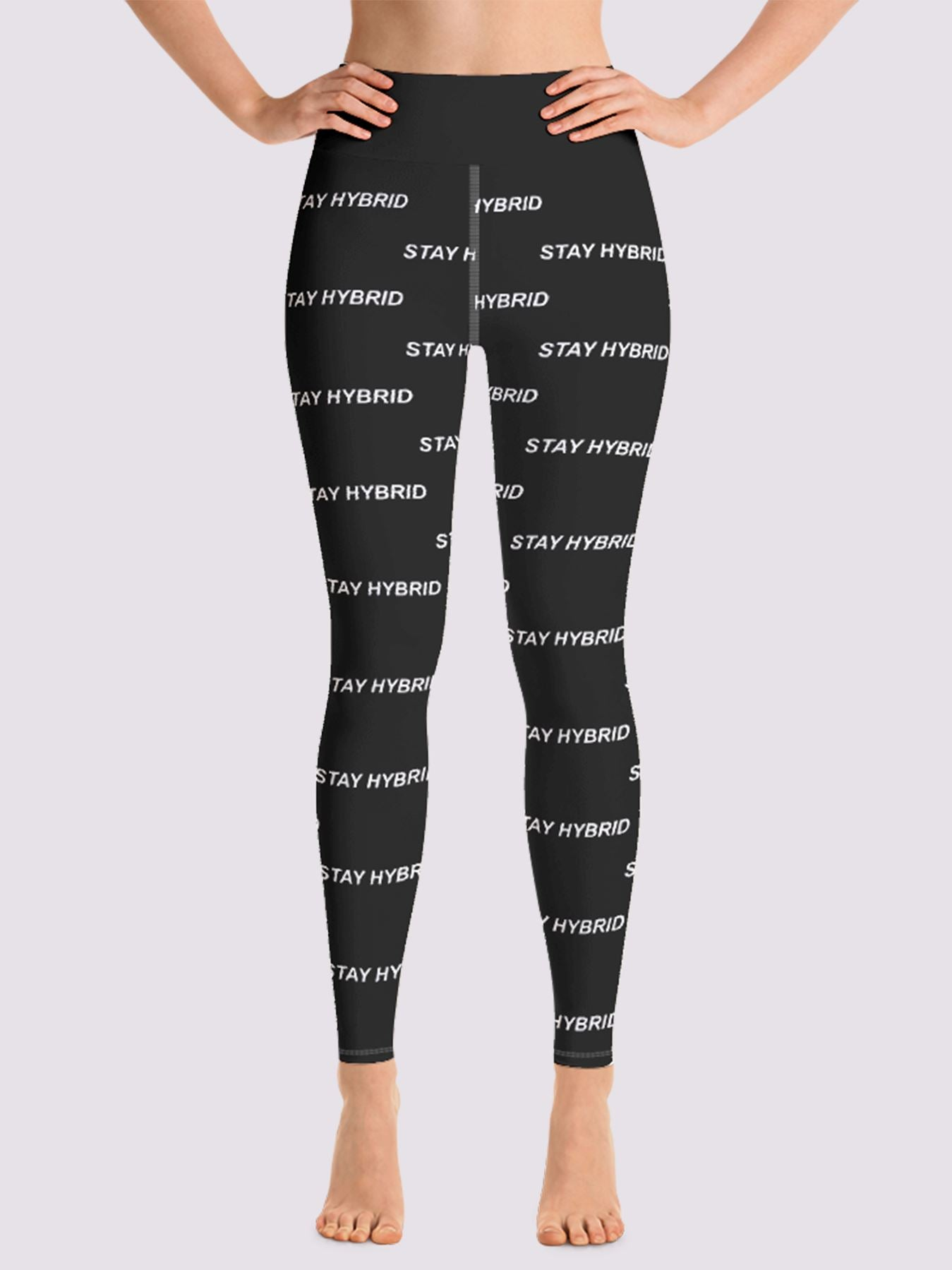 HYBRID NATION WOMEN SPORT FLEX LEGGINGS Women's Leggings Printful XS Black