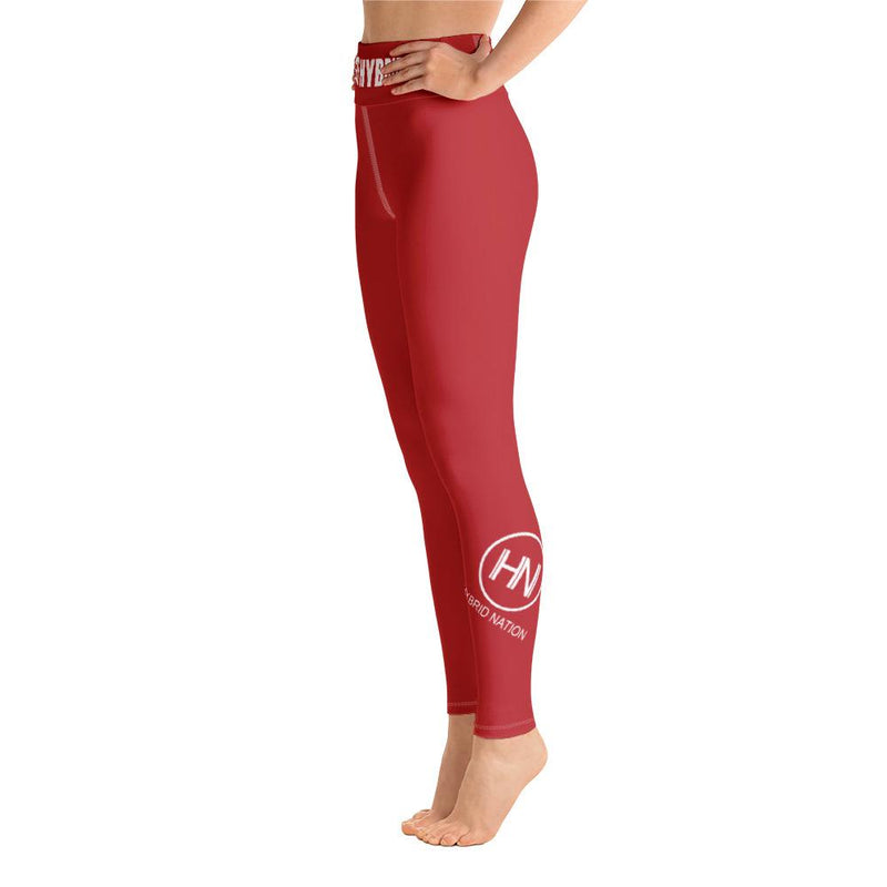 HYBRID NATION WOMEN SPORT FLEX LEGGINGS Women's Leggings Printful XS Slate