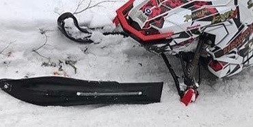 A few sled wrecks that couldn't break Curve skis