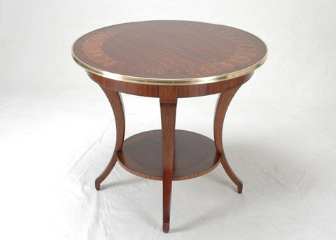#3170 Boston Ring Directoire Table (shown with optional Brass)