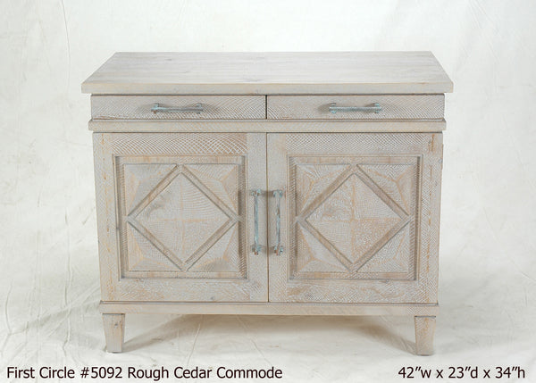 #5092 Cedar Diamond Commode