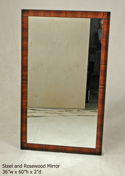 #6220 Steel and Rosewood Mirror