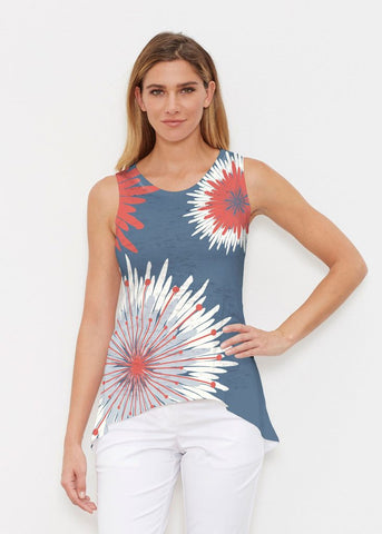 This Sporty Yet Elegant Top Reminds Me Of The Fireworks I Love Watching With My Family On Fourth July Flower Burst Tank 66 From Whimsy Rose