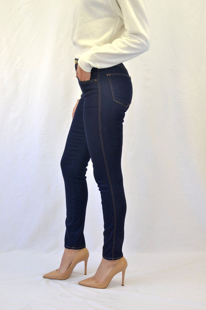 Truth High Rise Skinny in Vive Recycled Rinsed Blue