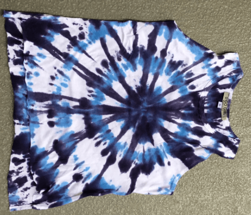 Girls HiLo Multi Blue Tie Dye Tunic