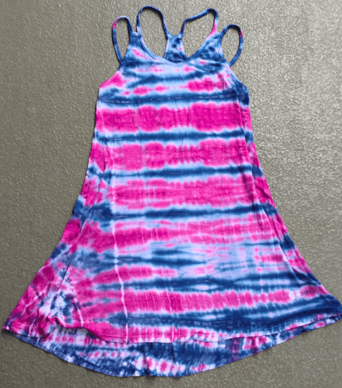 Girls Tie Dye Strappy Tank Dress