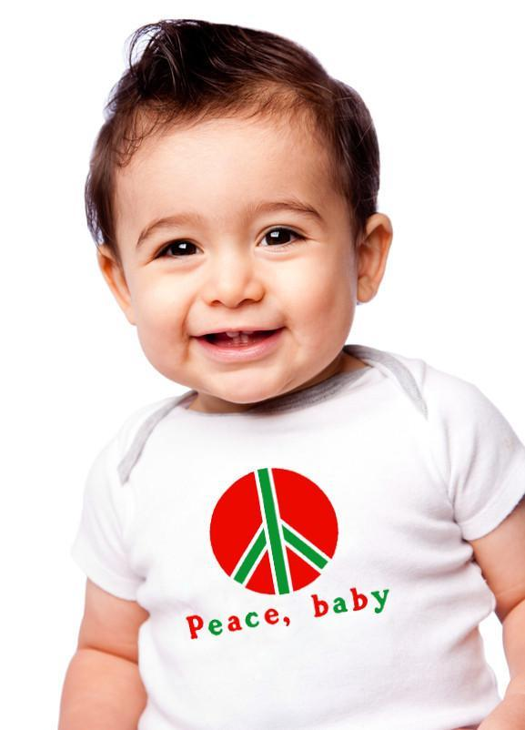 Peace, baby Organic Baby Romper