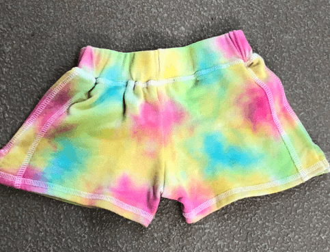 Girls Multi Pastel Tie Gym Short