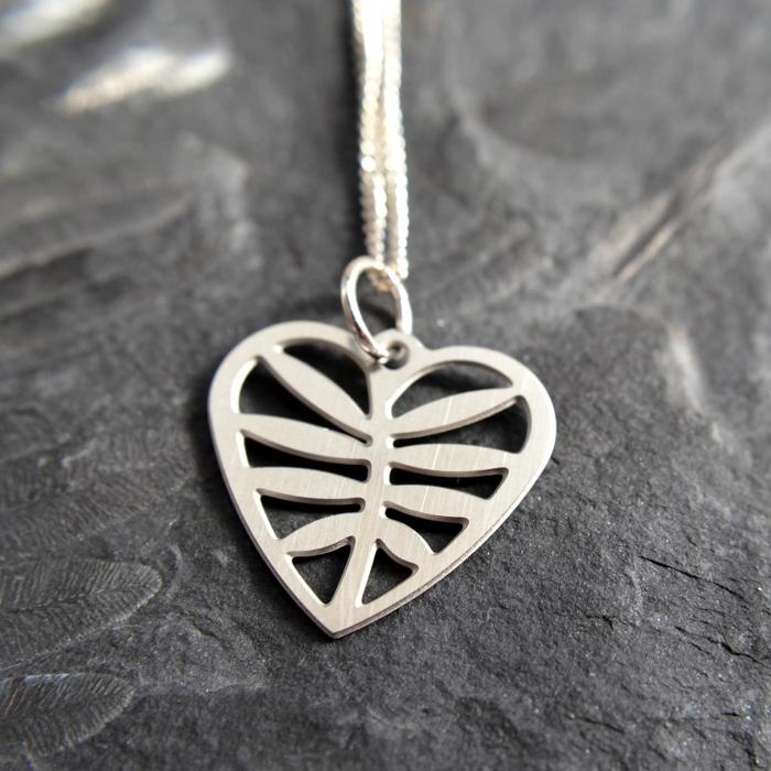 Leafy Heart Earrings & Pendant